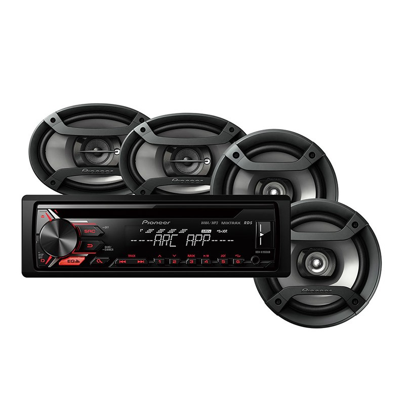 REPRODUCTOR PIONEER 50W/CD/MP3/USB/ANDROID/4 PARLANTES
