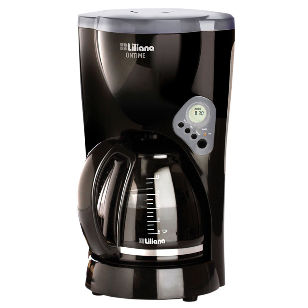 CAFETERA LILIANA ONTIME NEGRA/1,5LTS/950W.