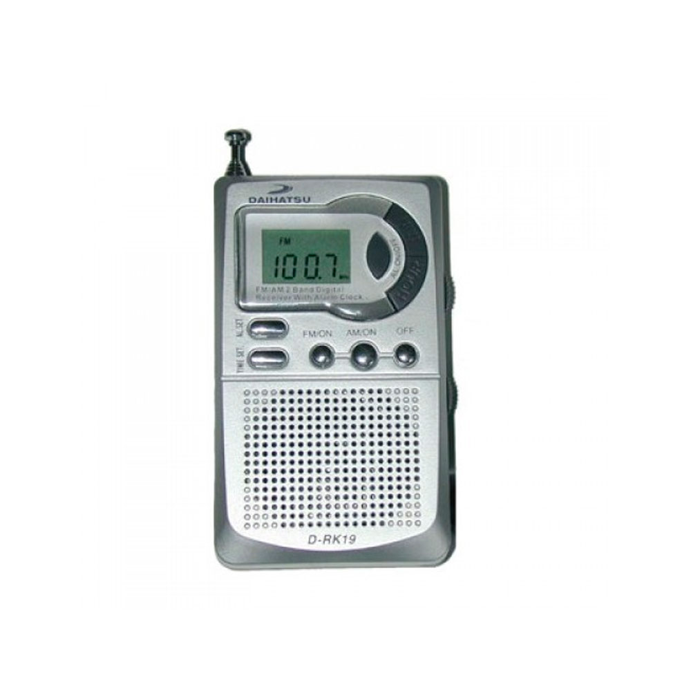 RADIO DIGITAL DAIHATSU POCKET AM/FM CON RELOJ DESPERTADOR