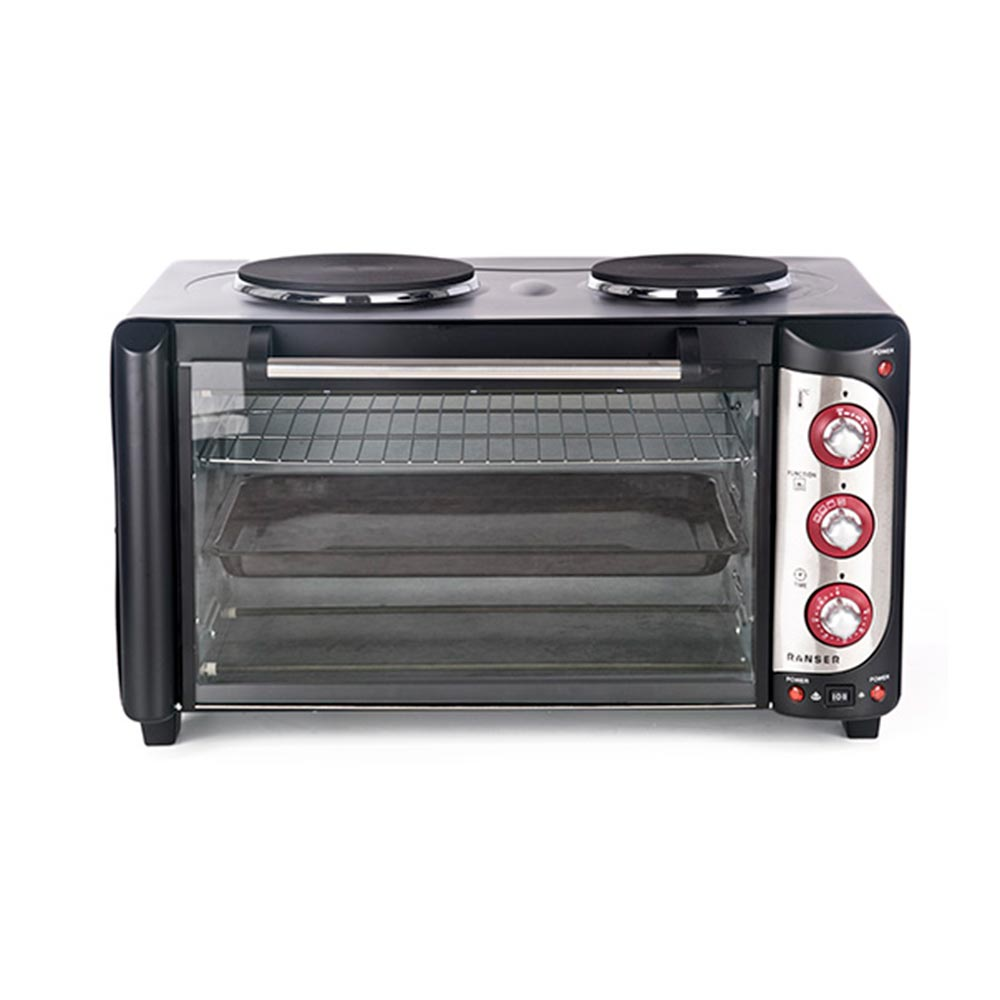 HORNO ELECTRICO RANSER 42LTS/DOBLE ANAFE/GRILL/3000W.