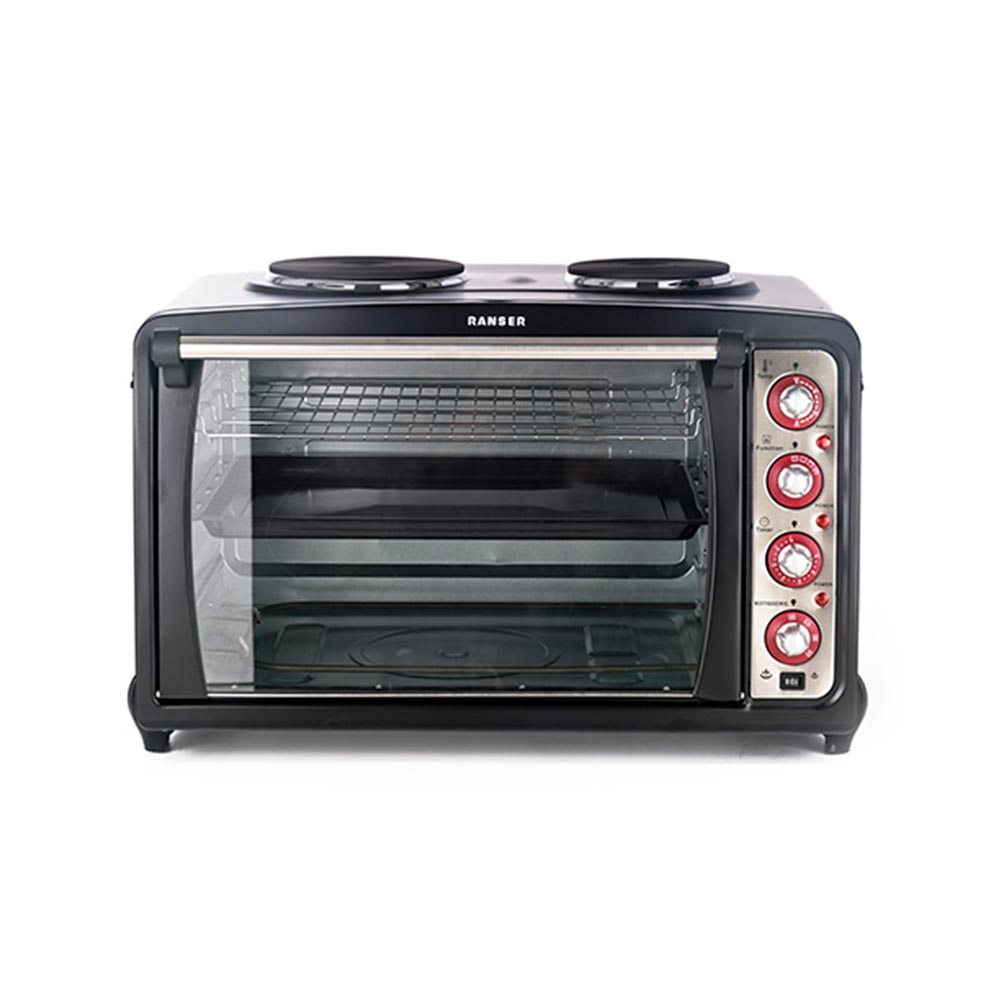 HORNO ELECTRICO RANSER 60LTS DOBLE ANAFE/GRILL/3200W.