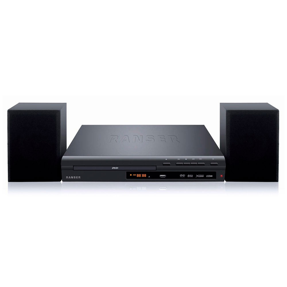 DVD RANSER CON SISTEMA DE AUDIO 2.1 FM/CD/USB/HDMI.
