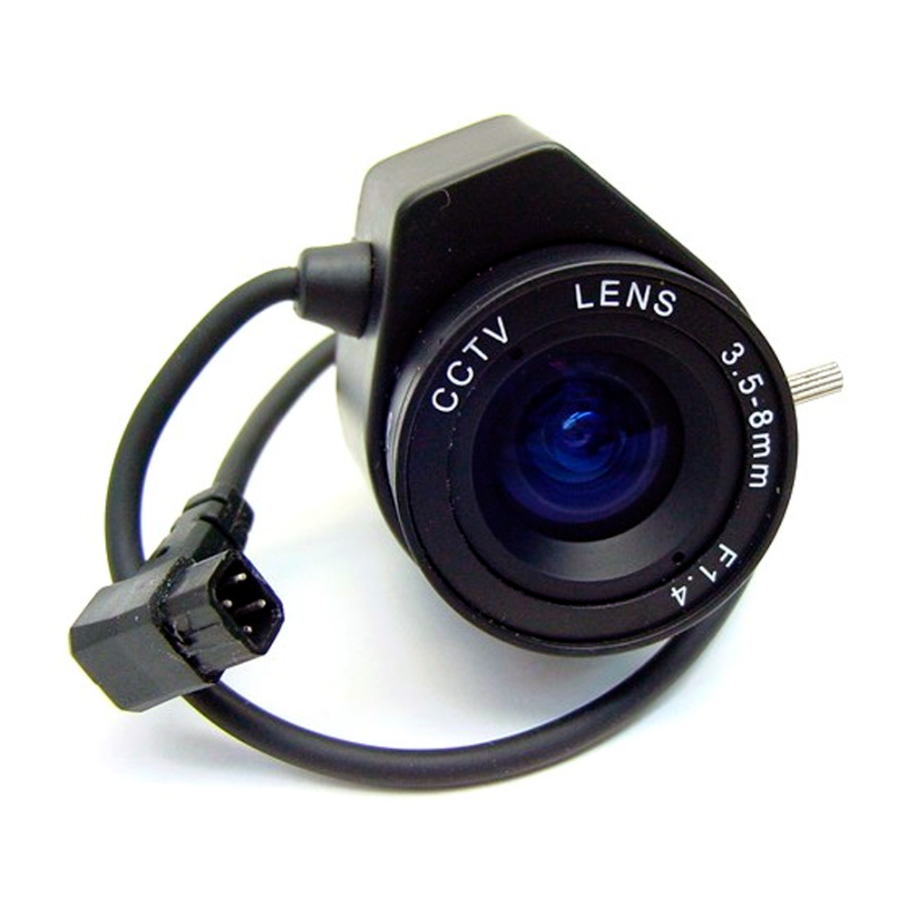 "LENTE DLUX VARIFOCAL AUTOIRIS 1/3"" 3.5MM A 8MM."