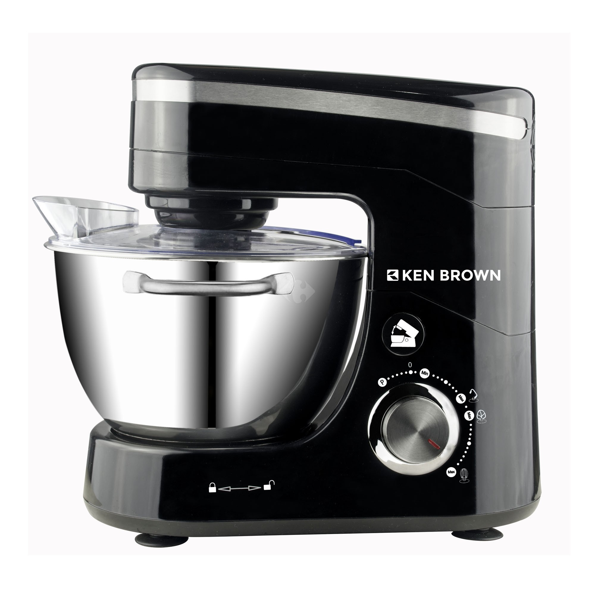 BATIDORA PLANETARIA KEN BROWN C/BOWL ACERO INOXIDABLE/800W.