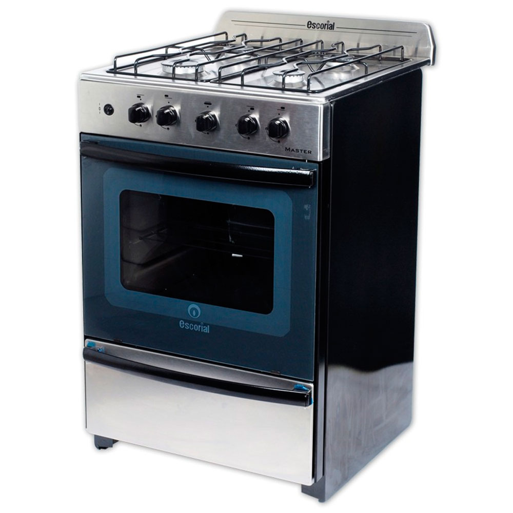 COCINA ESCORIAL MASTER FULL ACERO INOX. A GAS NATURAL.