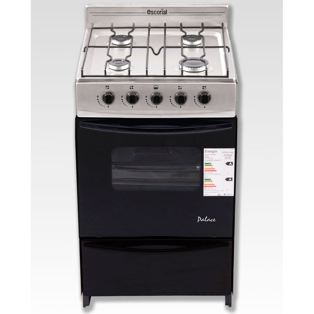 COCINA ESCORIAL PALACE ACERO INOX. A GAS NATURAL.